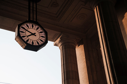 Clock of Central Railway Station of Milan.