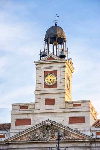 clock of the government, in the Puerta del Sol in Madrid, where the twelve chimes are celebrated every year. Spain