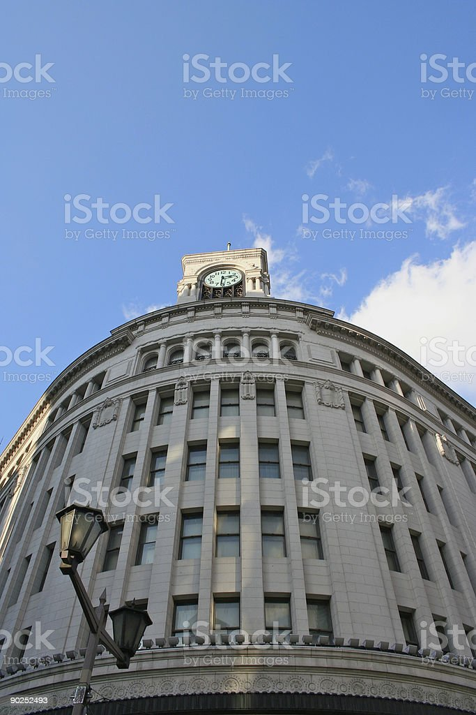 Clock on Ginza royalty-free stock photo