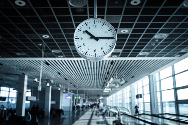 Clock on the airport