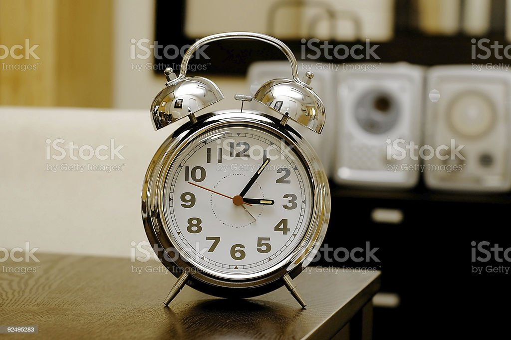 Clock on the table royalty-free stock photo
