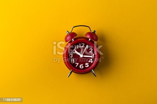 clock, yellow, background, red, alarm