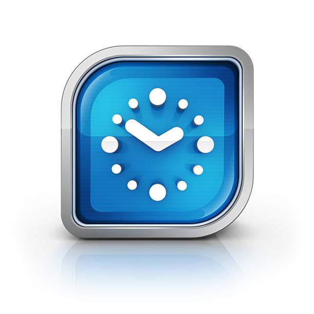 clock oder kalender, wecker-symbol - kalender icon stock-fotos und bilder