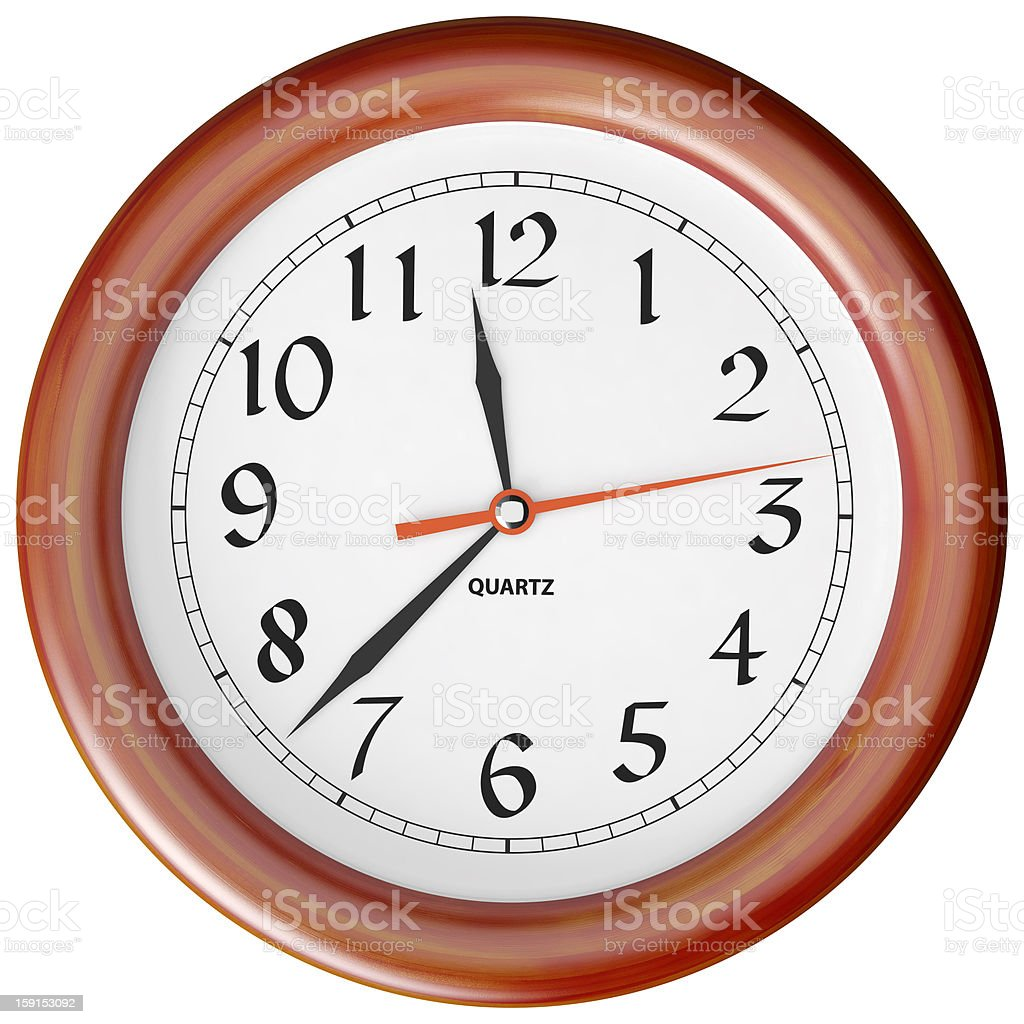 clock per a wooden royalty-free stock photo
