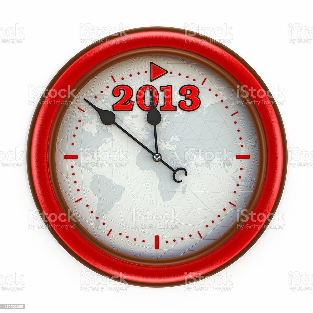 2013 clock royalty-free stock photo