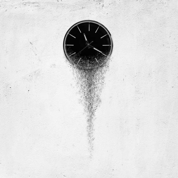 clock - disintegrate stock pictures, royalty-free photos & images