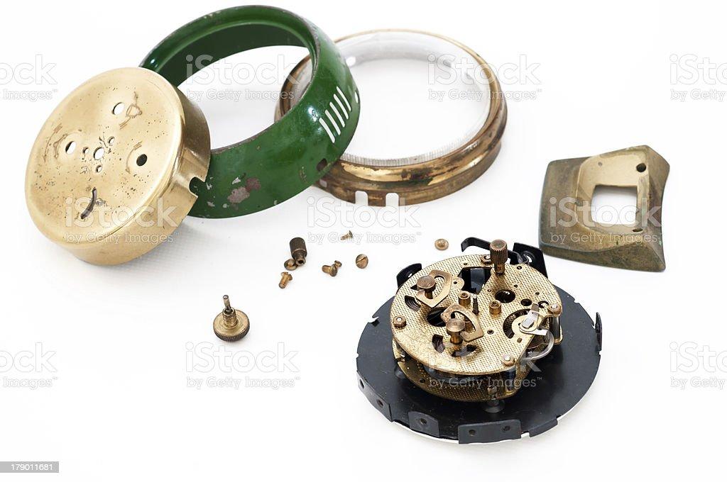Clock repair royalty-free stock photo