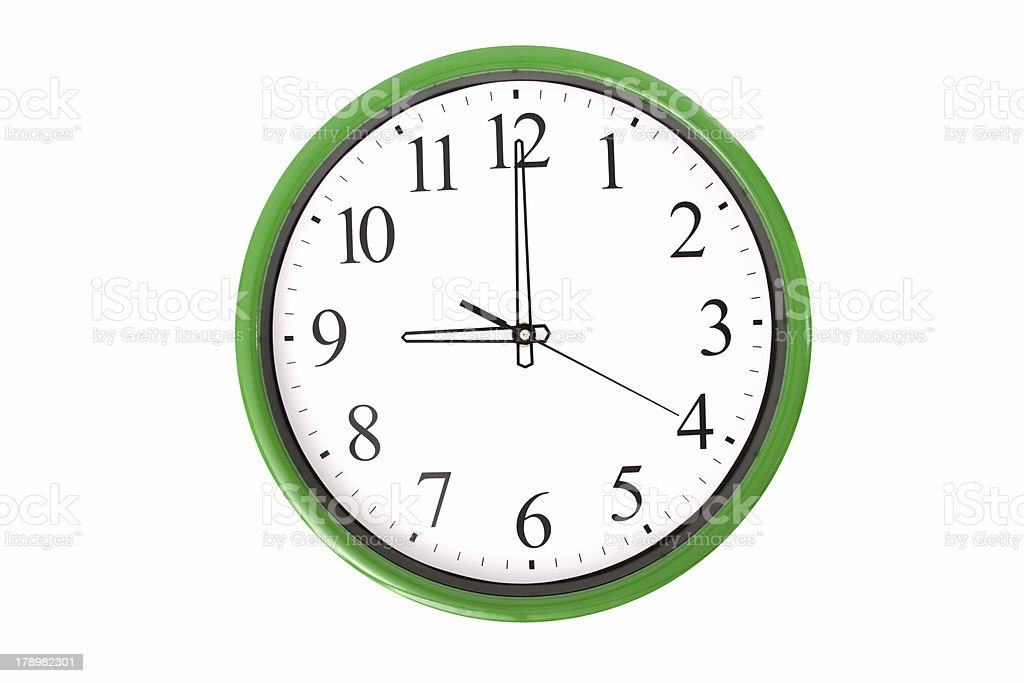 Clock serie - 9 o'clock stock photo