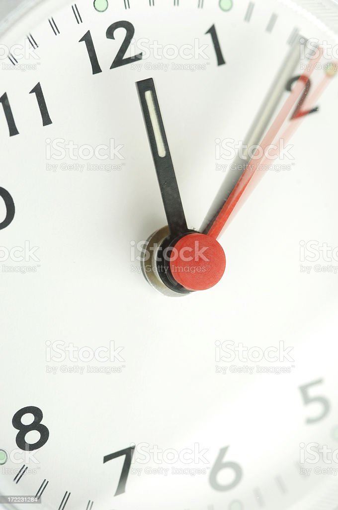 clock series stock photo