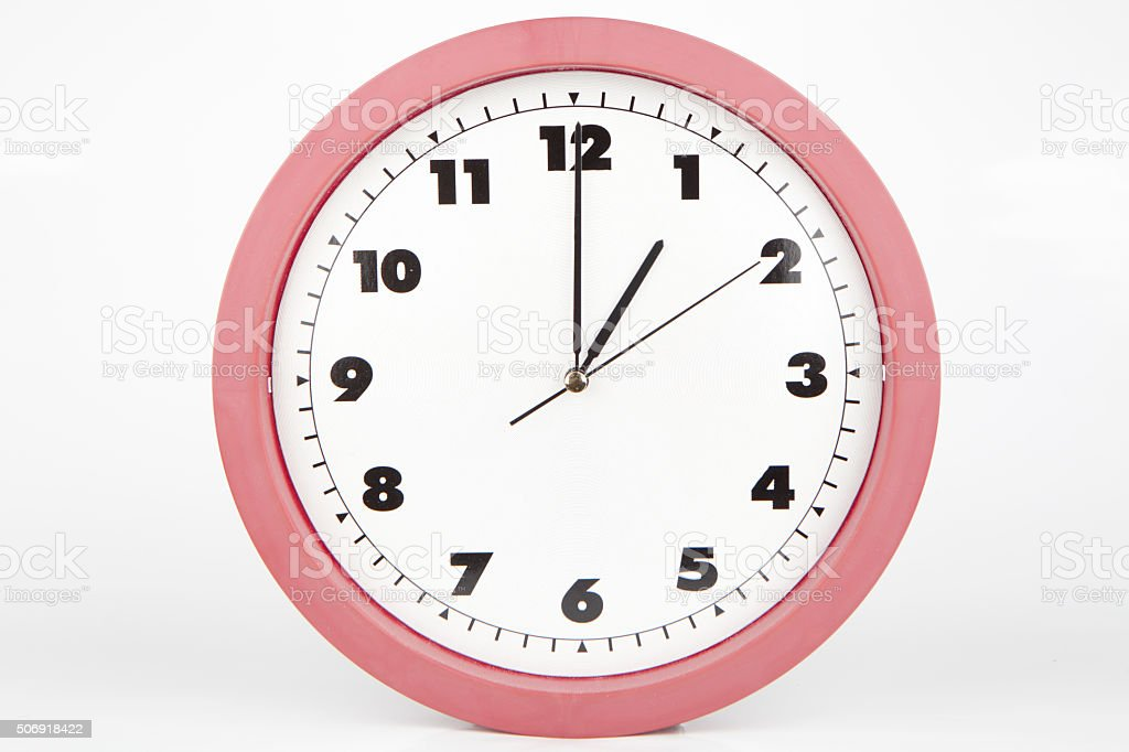 Clock showing 1 o'clock stock photo
