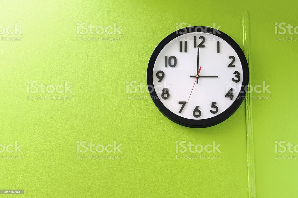 Clock showing 3 o'clock royalty-free stock photo