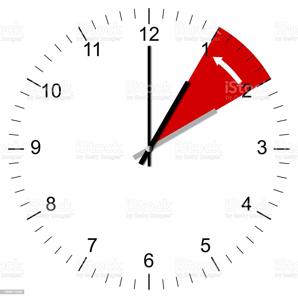 A clock showing the concept of daylight savings stock photo