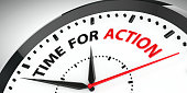 istock Clock - Time for action 869069506