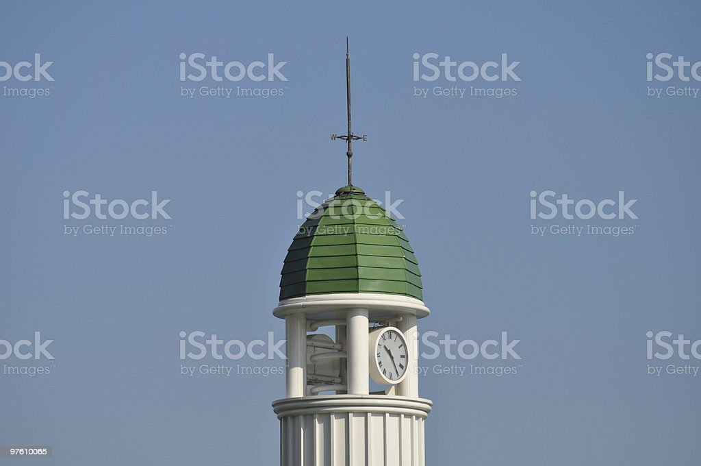 Clock tower against blue sky royalty-free stock photo