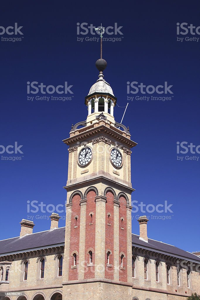 Clock Tower at Newcastle royalty-free stock photo