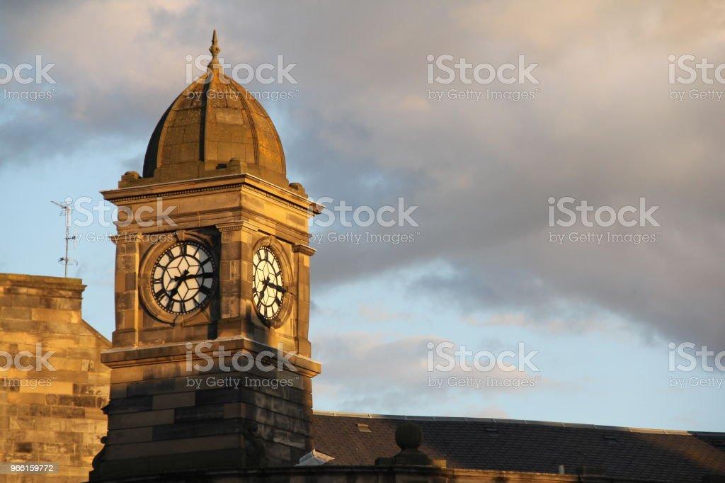 Uhrturm in Sunset Aalen - Lizenzfrei Architektur Stock-Foto
