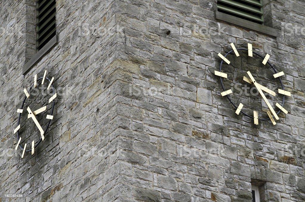 Clock Tower Church Bad Eilsen royalty-free stock photo