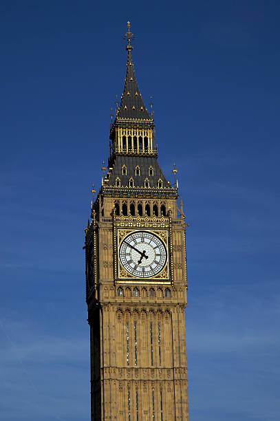 Clock tower containing Big Ben stock photo