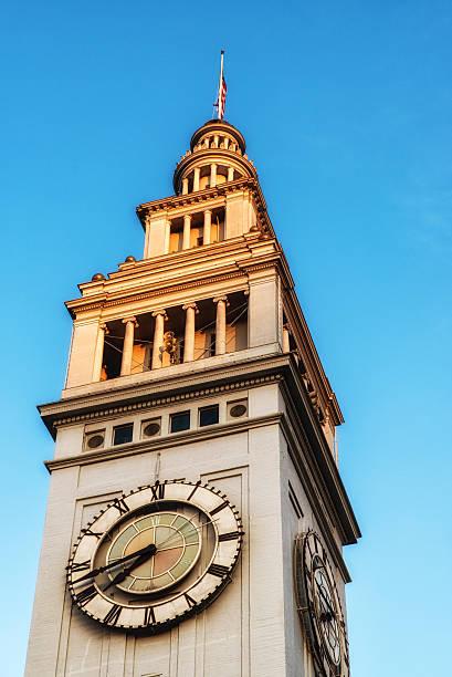 Clock Tower, Ferry Building, San Francisco stock photo