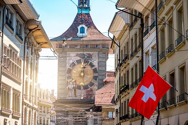 Clock tower in Bern city – Foto