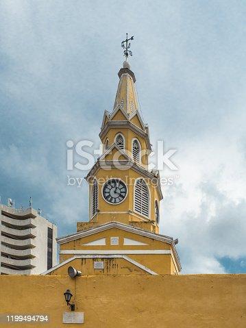 Clock tower in Cartagena de Indias - Colombia