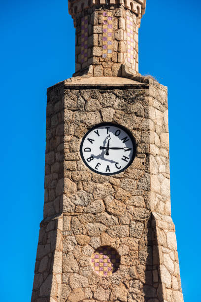 clock tower in daytona beach florida fl - daytona 500 stock photos and pictures