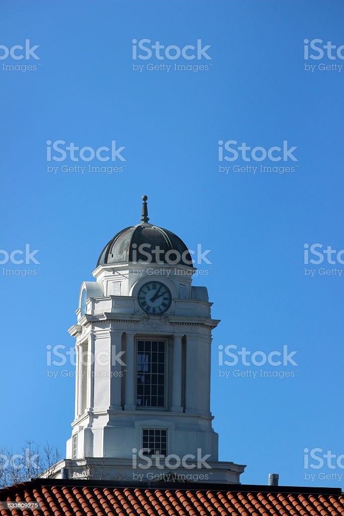 Clock Tower in Downtown Greenville, North Carolina stock photo