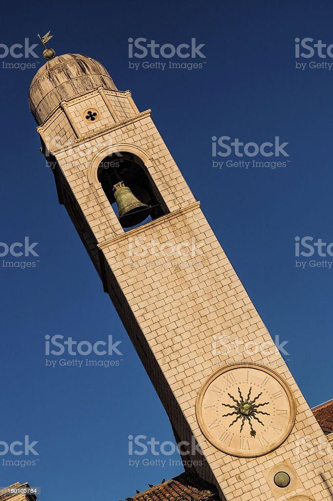 Clock Tower in Dubrovnik, Croatia royalty-free stock photo