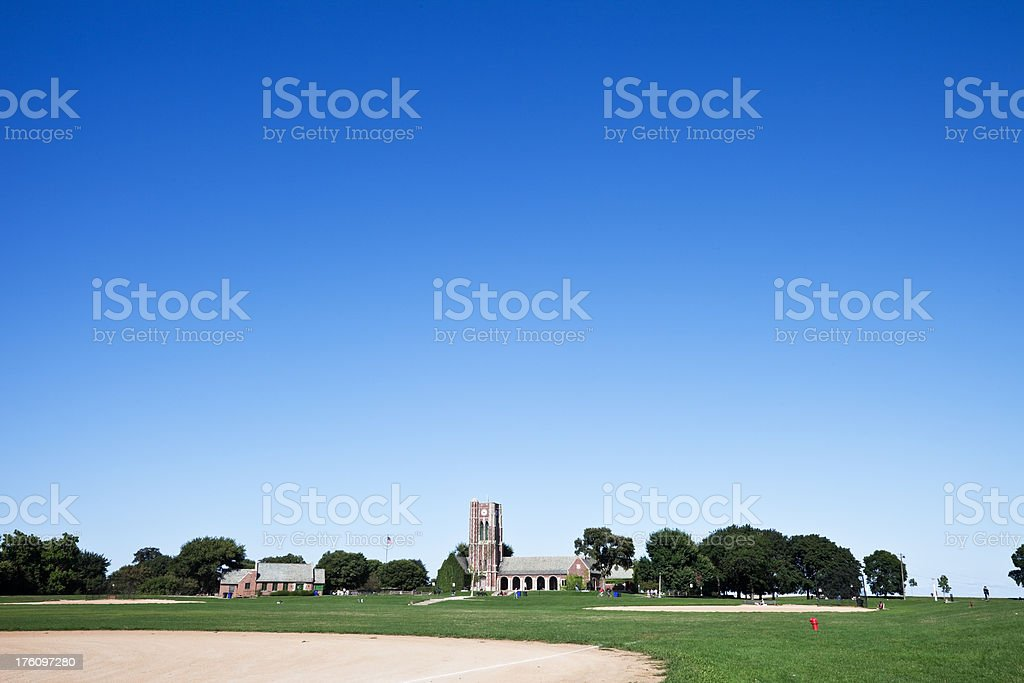 Clock Tower in Lincoln Park Chicago royalty-free stock photo