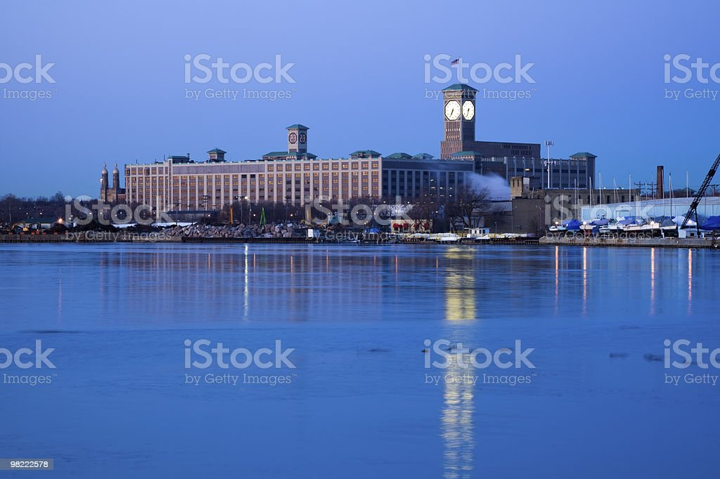Clock Tower in Milwaukee, Wisconsin. royalty-free stock photo