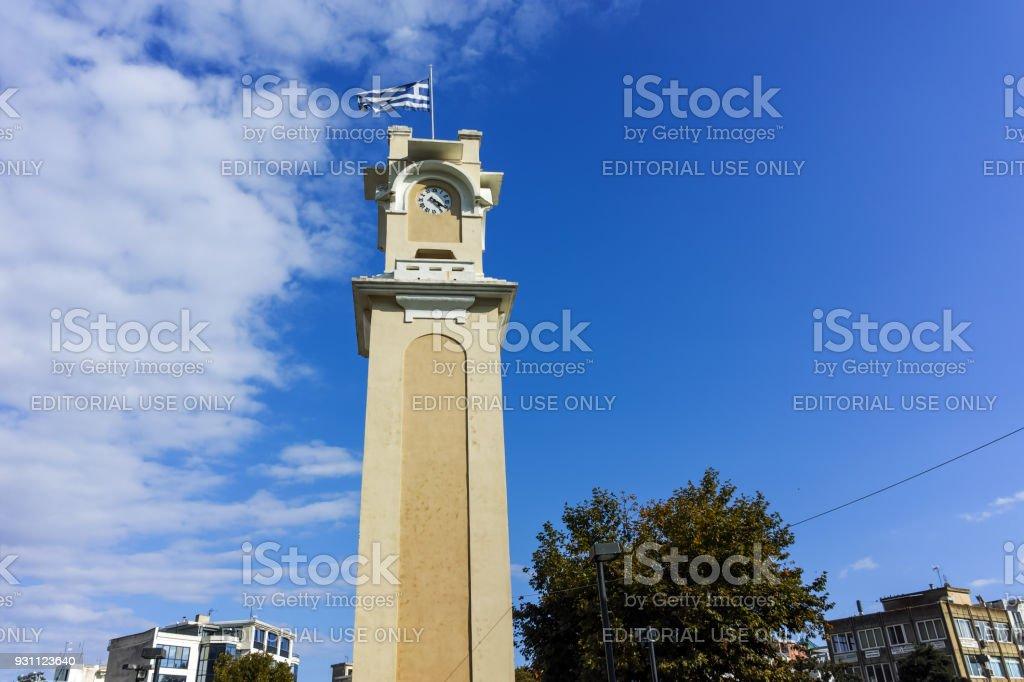 Eski şehir, İskeçe, Doğu Makedonya ve Trakya, Yunanistan ın Saat Kulesi - Royalty-free Akdeniz Kültürü Stok görsel