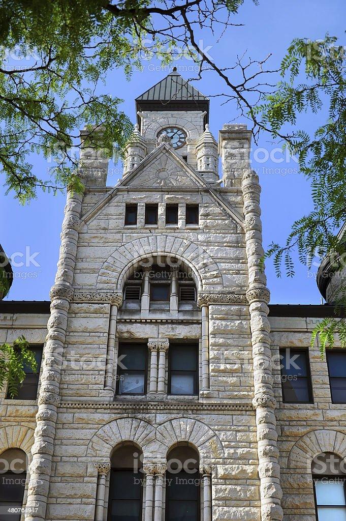 Clock Tower in Wichita stock photo