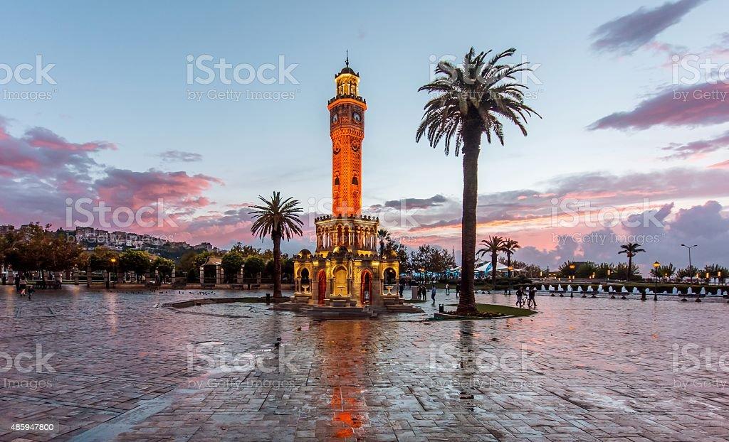 Clock Tower, Izmir stock photo