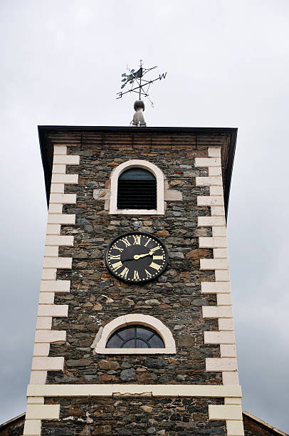 Clock Tower, Keswick, Cumbria, UK stock photo