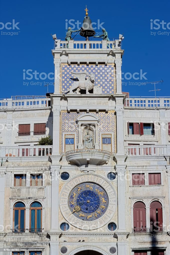 Clock Tower of St. Mark's Square (Venice) stock photo
