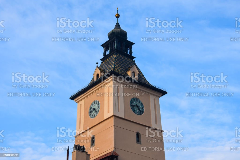 Clock Tower of the Brasov County Museum of History stock photo