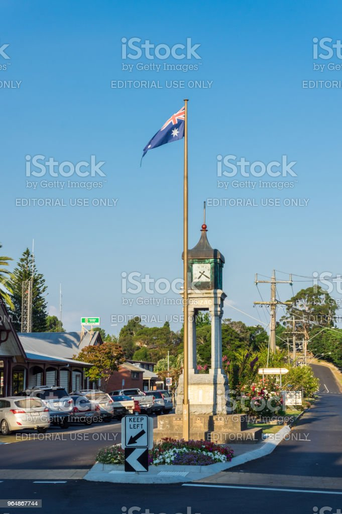 ANZAC clock tower on Main Street in Foster in South Gippsland. royalty-free stock photo