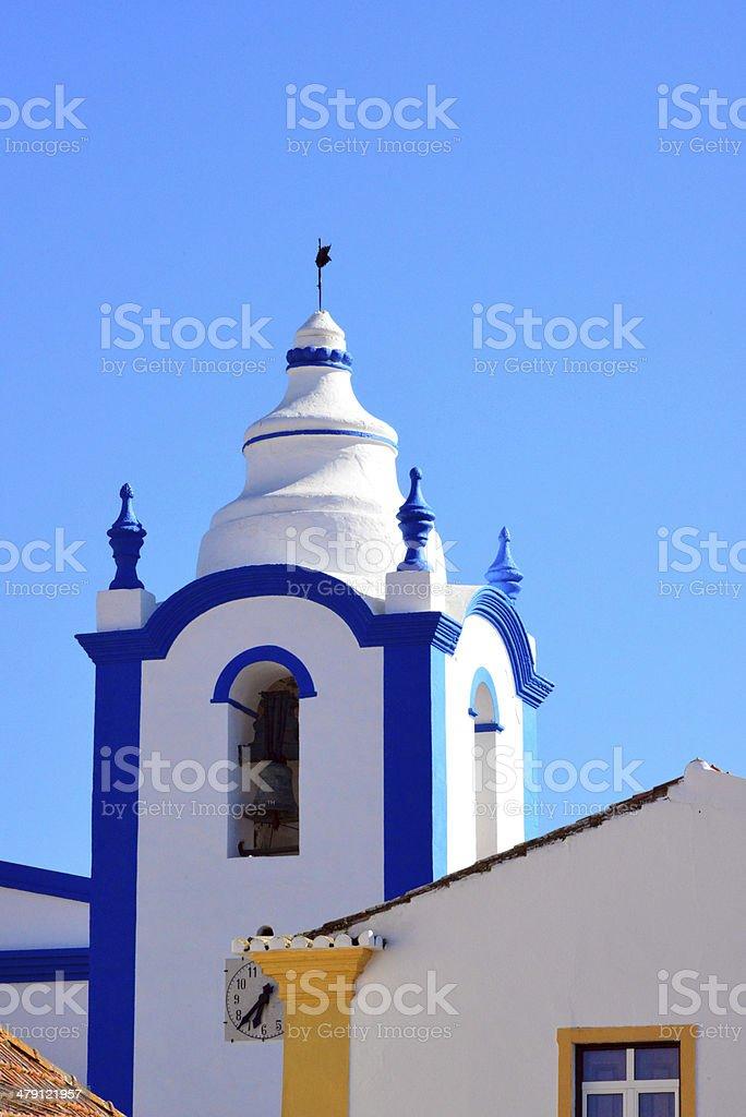 Clock Tower, Ourique, Portugal stok fotoğrafı