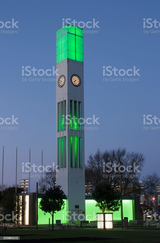 Clock tower, Palmerston North stock photo