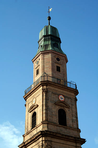 Clock tower  erlangen stock pictures, royalty-free photos & images