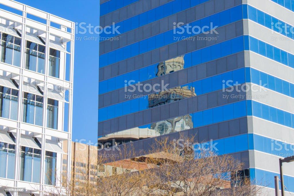 Clock Tower Reflection stock photo