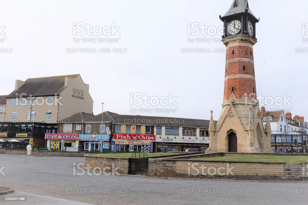 Clock Tower, Skegness, Lincolnshire. stock photo