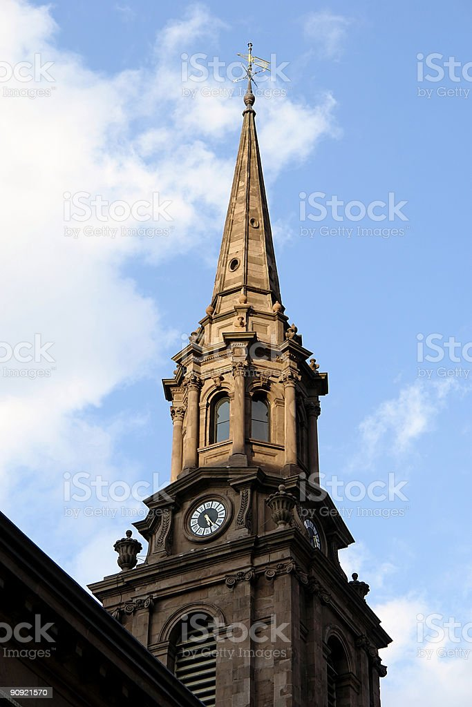 Clock tower Steeple royalty-free stock photo