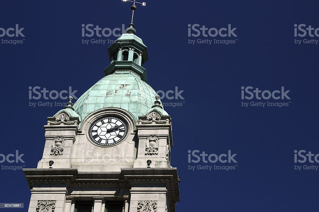 Clock Tower Vancouver royalty-free stock photo