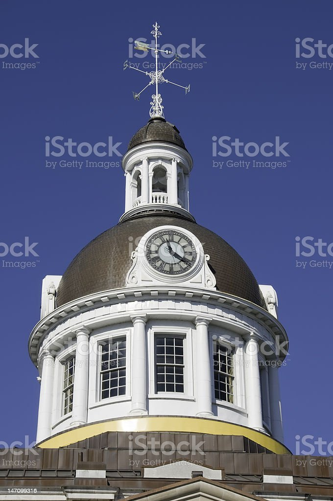clock tower with wind-rose royalty-free stock photo