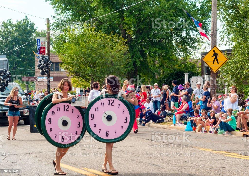 Clock twins stock photo