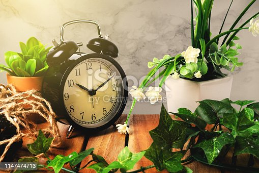 Clock vintage for decorate morning look like