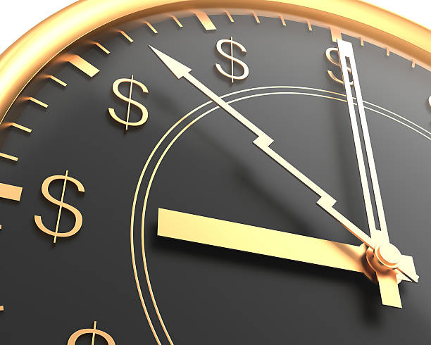 A clock with dollar signs instead of numbers time is money time is money stock pictures, royalty-free photos & images