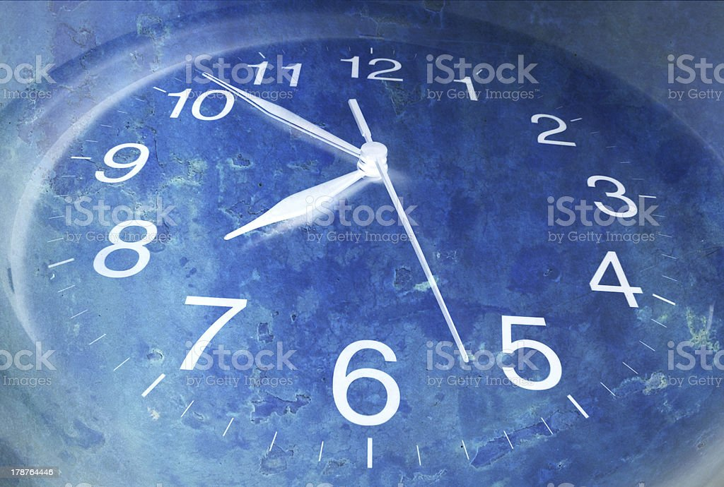 Clock with Texture Background royalty-free stock photo