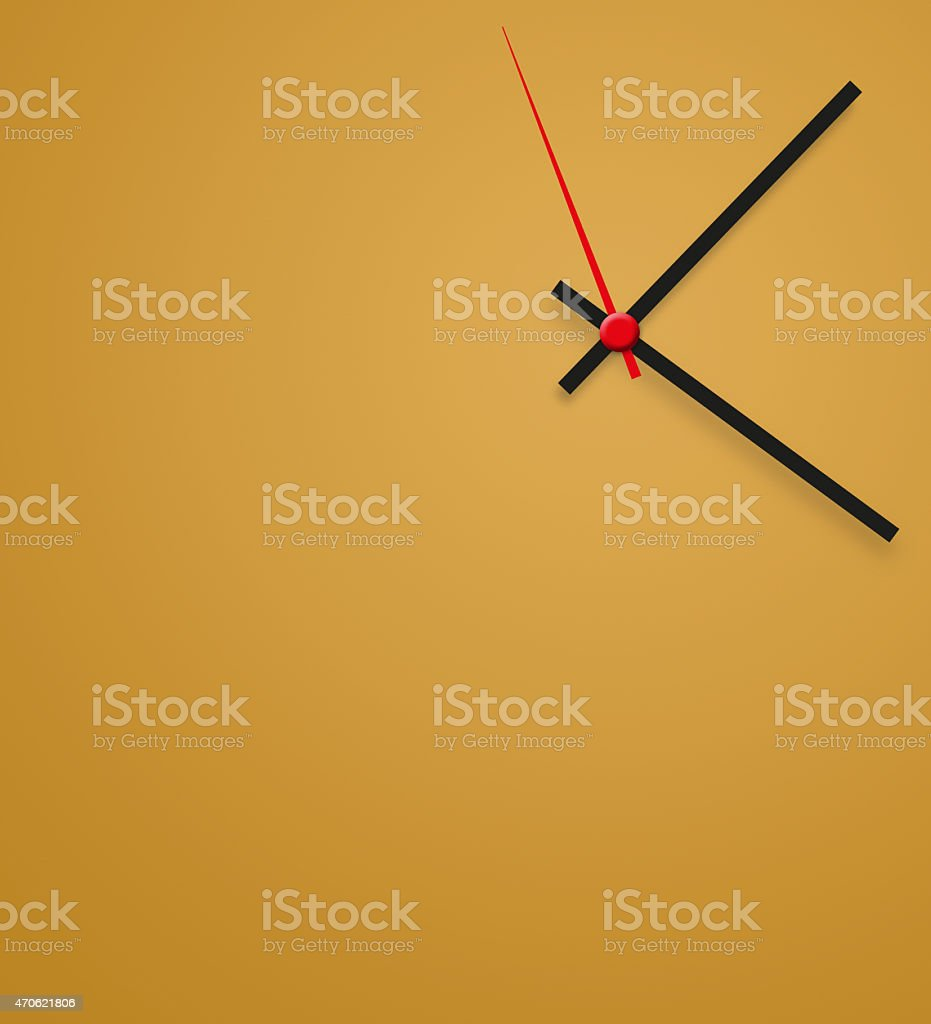 Clock with white face stock photo